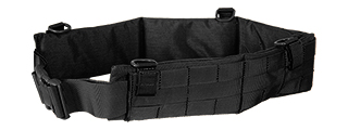 AC-236BL MOLLE BATTLE BELT (COLOR: BLACK ) SIZE: LARGE