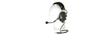 AC-252G Sound-Trap Headset, Military Version, Foliage Green