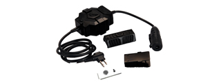 AC-255B Z-TACTICAL PTT (MOTOROLA 2-PIN VER.) ADAPTER FOR RADIO & HEADSET