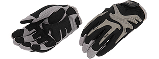 UK ARMS AIRSOFT IMPACT PRO FITTED PROTECTIVE GLOVES - LARGE