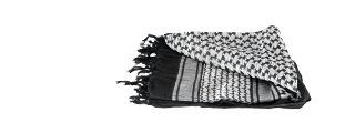 AC-3074 Shemagh, Black/White