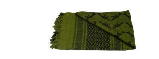 AC-3096 Shemagh, Double M4 Pattern, OD Green