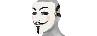 AC-313W Guy Fawkes Mask (White)