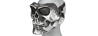 AC-318SB MESH SKULL FULL FACE MASK (SILVER & BLACK) GEN2