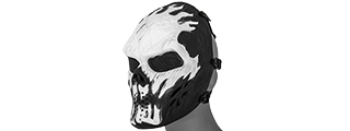 AC-319J VILLAIN MESH FACE MASK (WHITE FLAMES)