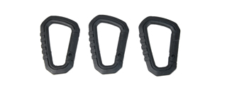 AC-324B SET OF 3 TYPE-D QUICK HOOK LARGE SIZE (BLACK)