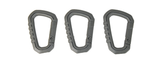 AC-324G SET OF 3 TYPE-D QUICK HOOK LARGE SIZE (FOLIAGE GREEN)