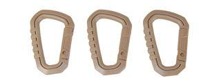AC-324T SET OF 3 TYPE-D QUICK HOOK LARGE SIZE (DARK EARTH)