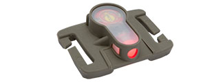 MOLLE SYSTEM (RED L.E.D.) STROBE LIGHT (FOLIAGE GREEN)