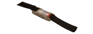 "1"" WEBBING SPLIT BAR (RED L.E.D.) STROBE LIGHT (DARK EARTH)"