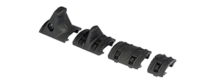 UK ARMS AIRSOFT TACTICAL HAND STOP RAIL KIT - BLACK