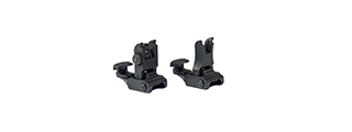 AMA 7E1L AIRSOFT FRONT AND REAR FOLDING SIGHT SET - BLACK