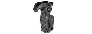 UK ARMS AIRSOFT ERGONOMIC 90 DEGREE FOLDABLE RIS FOREGRIP - BLACK