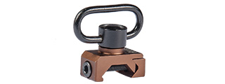 AC-367T DD SLING SWIVEL FOR RAIL (COLOR: DARK EARTH)