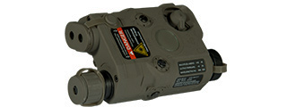 AN/PEQ-15 L.E.D. WHITE LIGHT + RED LASER w/IR LENS (BODY COLOR: FOLIAGE GREEN)