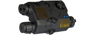 AN/PEQ-15 LA5 L.E.D. WHITE LIGHT + GREEN LASER w/IR LENS (BODY COLOR: BLACK)