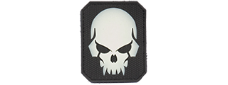 AC-389C PIRATE SKULL PVC PATCH (COLOR: GLOW IN DARK WHITE & BLACK)