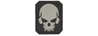 AC-389D PIRATE SKULL PVC PATCH (COLOR: GRAY & BLACK)
