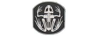 AC-390A FROG SKELETON PVC PATCH (COLOR: BLACK & WHITE)