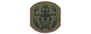 AC-390B FROG SKELETON PVC PATCH (COLOR: OD GREEN & BLACK)