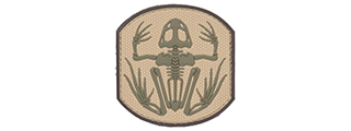 AC-390D FROG SKELETON PVC PATCH (COLOR: TAN & OD GREEN)
