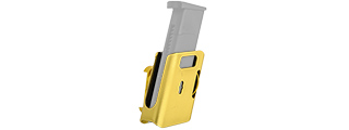 AC-396G COMPETITION ALUMINUM PISTOL MAGAZINE POUCH TYPE-B (COLOR: GOLD)