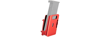 AC-396R COMPETITION ALUMINUM PISTOL MAGAZINE POUCH TYPE-B (COLOR: RED)