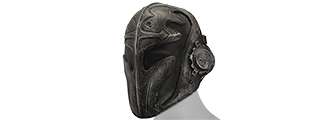 "AC-441B STEEL MESH ""TEMPLAR"" MASK (BLACK)"