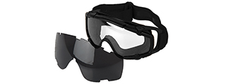 AC-444BF SI BALLISTIC GOGGLE FAN VERSION w/2 LENS (FRAME COLOR: BLACK)