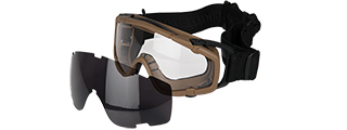 AC-444TF SI BALLISTIC GOGGLE FAN VERSION w/2 LENS (FRAME COLOR: TAN)