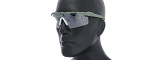 AC-470C SHOOTING GLASSES (GRAY) LENS: CLEAR