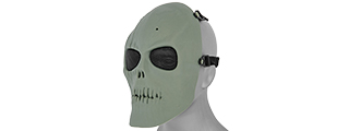 AC-475G MESH SCARRED SKULL MASK (ZOMBIE GREEN)
