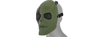 AC-475NG MESH SCARRED SKULL MASK (NEW GREEN)