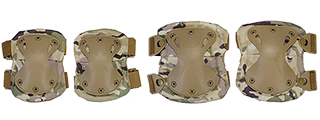 AC-478C TACTICAL QUICK-RELEASE KNEE & ELBOW PAD SET (MODERN CAMO)