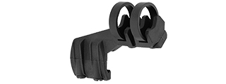 AC-486BR OFFSET LIGHT CLIP MOUNT (ON RIGHT SIDE) COLOR: BLACK