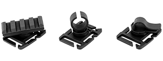 AC-505B ACCESSORY CLIP - 3 TYPES (BLACK) FOR WEBBING