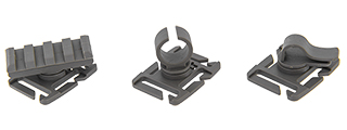 AC-505G ACCESSORY CLIP - 3 TYPES (FOLIAGE GREEN) FOR WEBBING