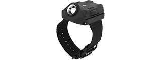 AC-523B USB CHARGE WRIST LIGHT 240 LUMENS L.E.D. (BLACK)