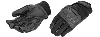 AC-801M Hard Knuckle Glove (Black) - Size M