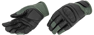 AC-809M KEVLAR HARD KNUCKLE GLOVES (SAGE) - MEDIUM