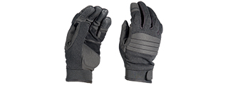 OPS TACTICAL AIRSOFT PADDED GLOVES - BLACK