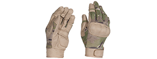 AC-813M TACTICAL HARD KNUCKLE GLOVES (COLOR: CAMO) SIZE: MEDIUM