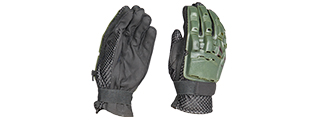 AC-815M PAINTBALL GLOVES FULL FINGER (COLOR: OD GREEN) SIZE: MEDIUM