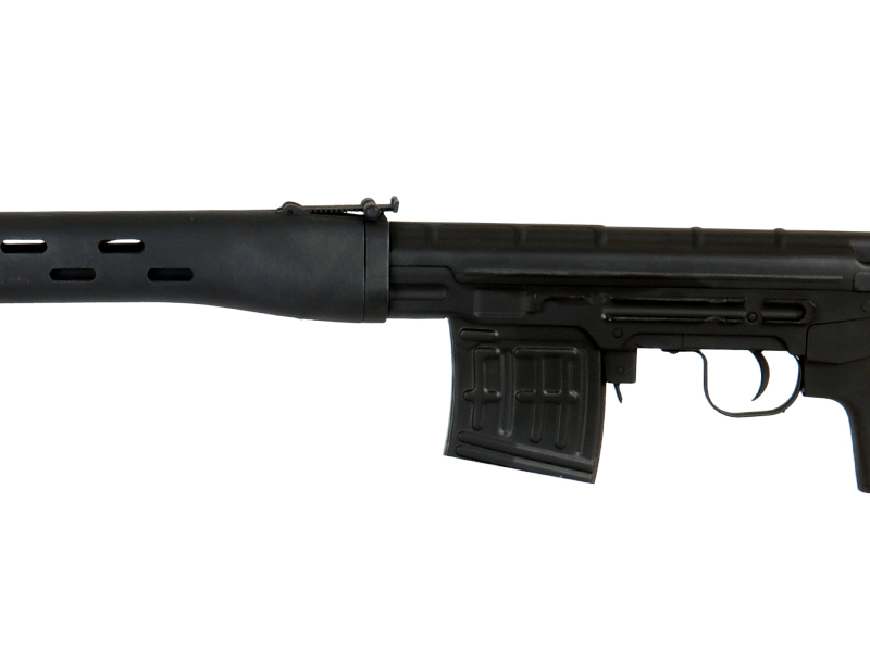 A&K AEG-SVD-NB AK AEG Metal Gear Full Metal Body w/ Removable Check Rest, Battery and Charger Not Included