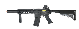 BI-3881M-NB M4 CQB SD RIS AEG RIFLE - NO BATTERY/CHARGER (BLACK)