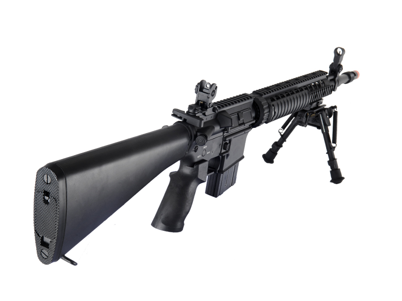 Dboys BI-5281M M16 SPR MOD 1 AEG Metal Gear, Polymer Body, w/ Bipod, Black
