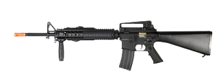 Dboys BI-5581M M16A4 RIS Auto Electric Gun Metal Gear, Full Metal Body, PEQ Box Vertical Foregrip