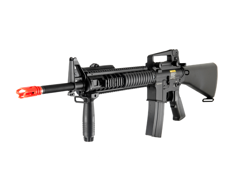 Dboys BI-5581M M16A4 RIS Auto Electric Gun, Metal Gear/Body, PEQ Box