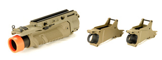 Lancer Tactical CA-01T EGLM Grenade Launcher for MK16 Series in Desert Tan