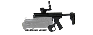 Lancer Tactical CA-08B RAS Platform for EGLM Launcher in Black